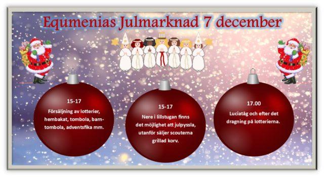 Equmenias julmarknad 7 december 15-17