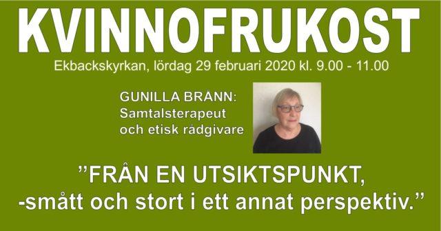 Kvinnofrukost med Gunilla Brånn