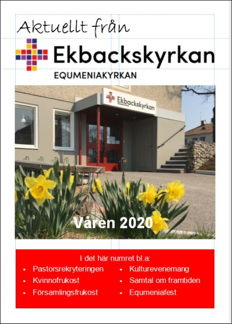 Nu finns ett nytt programblad för  våren